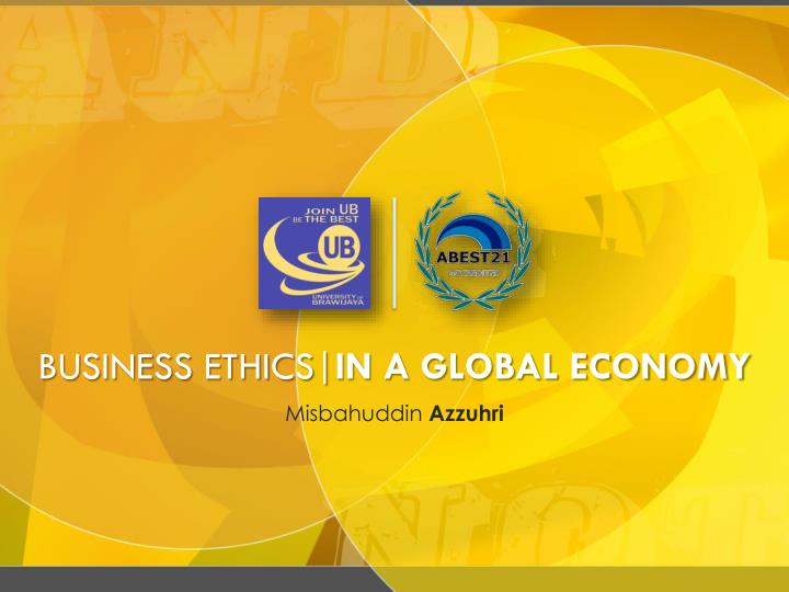 business ethics in a global economy n.