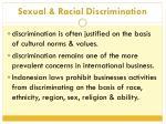 sexual racial discrimination