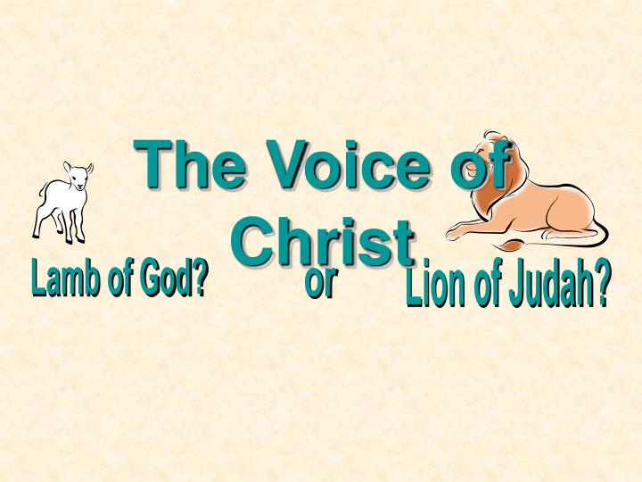 the voice of christ n.
