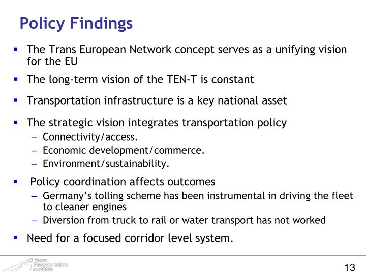 Policy Findings