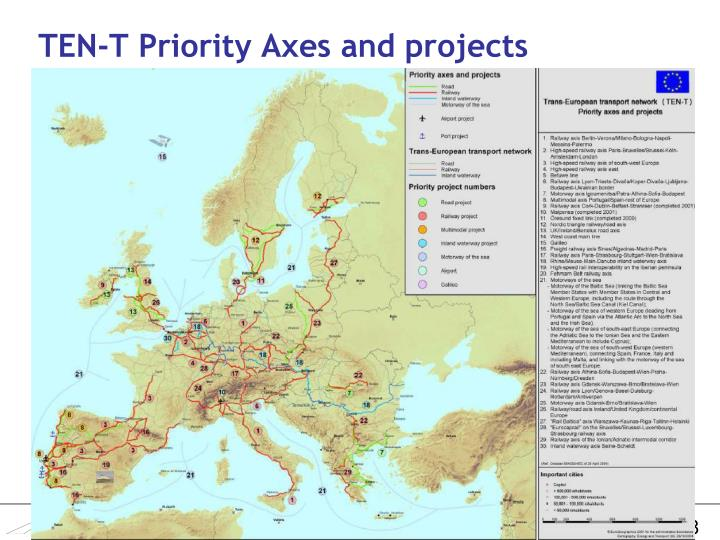 TEN-T Priority Axes and projects