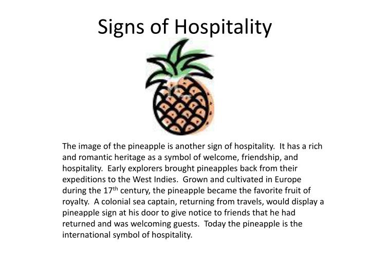 Signs of Hospitality