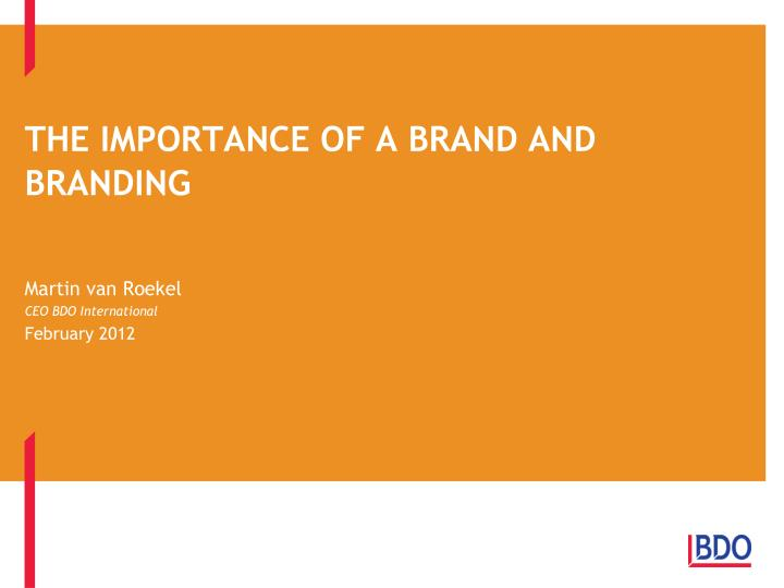 the importance of a brand and branding n.