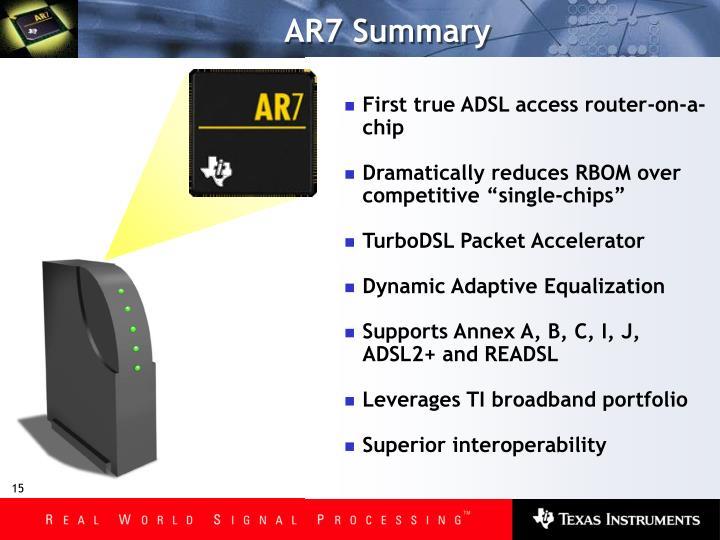 AR7 Summary