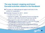 the way forward ongoing and future eurostat activities related to the handbook