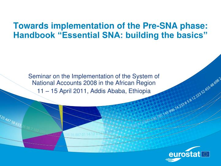 towards implementation of the pre sna phase handbook essential sna building the basics n.
