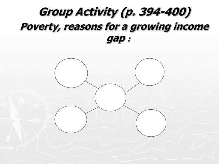 Group Activity (p. 394-400)