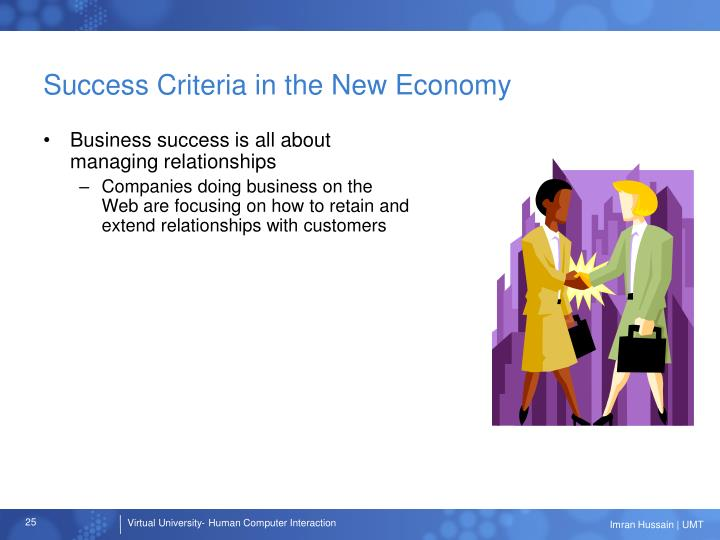 Success Criteria in the New Economy
