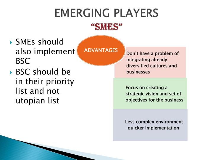 EMERGING PLAYERS