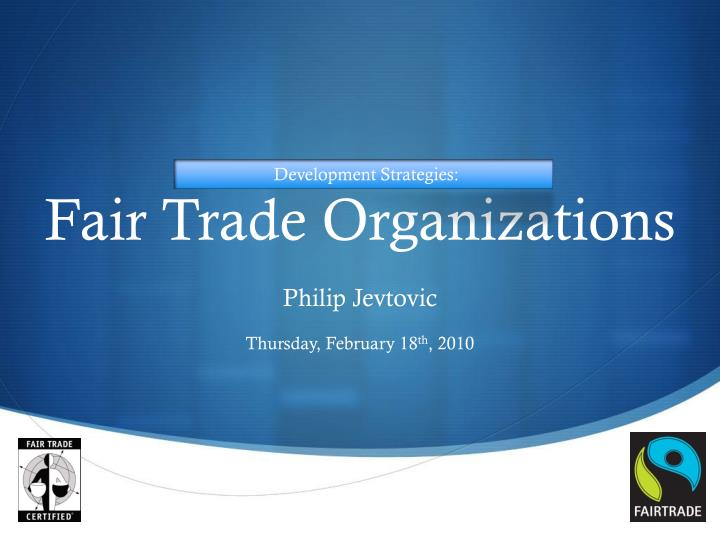 what is fair trade and why Fair trade: what does it mean and why does it matter (fourth draft) david miller nuffield college, oxford davidmiller@nuffieldoxacuk cssj working papers series.