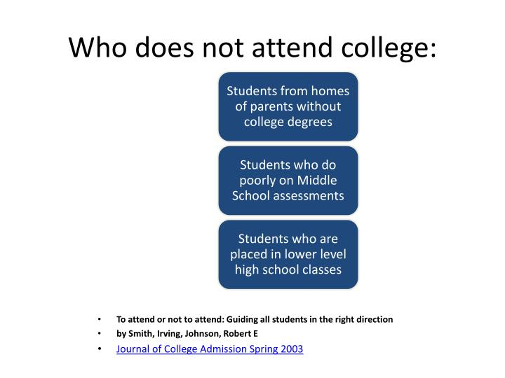 Who does not attend college: