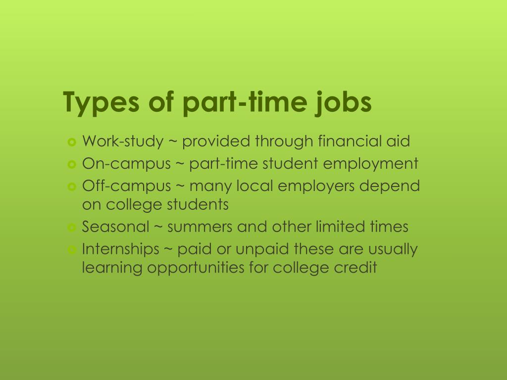 PPT - ARE YOU LOOKING FOR A PART-TIME JOB? ? PowerPoint Presentation, free  download - ID:1789162