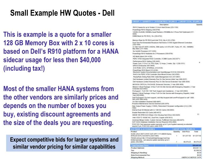 Small Example HW Quotes - Dell