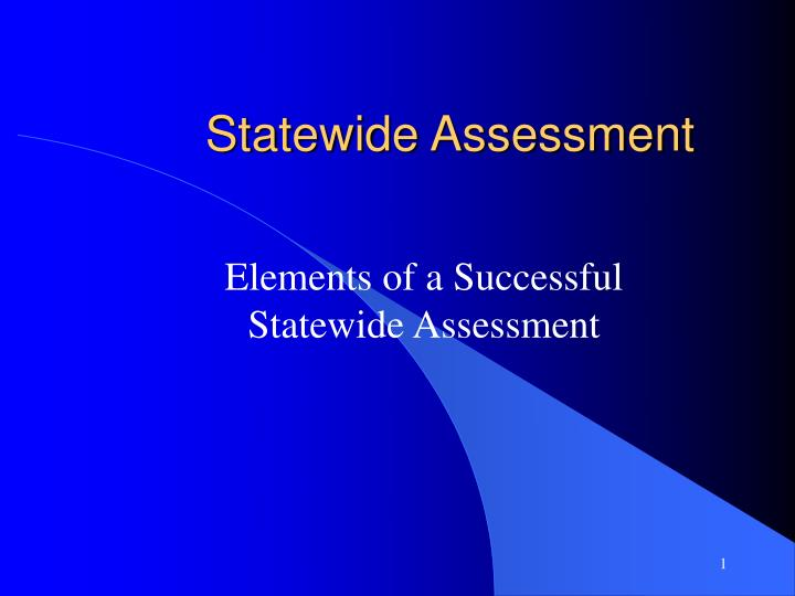 statewide assessment n.