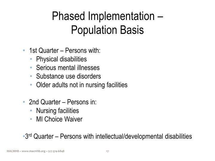 Phased Implementation –