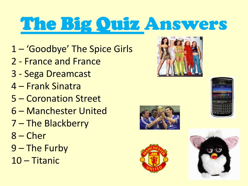 PPT - The Big Quiz Answers PowerPoint Presentation - ID:1789499
