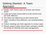 getting started a team approach