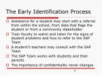 the early identification process