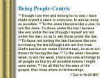 being people centric