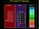 10 th and 11 th access