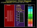 comparison direct mapped