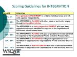 scoring guidelines for integration