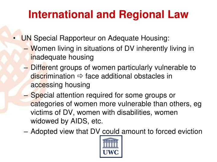 UN Special Rapporteur on Adequate Housing: