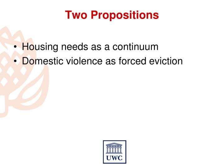 Housing needs as a continuum