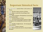 important historical facts
