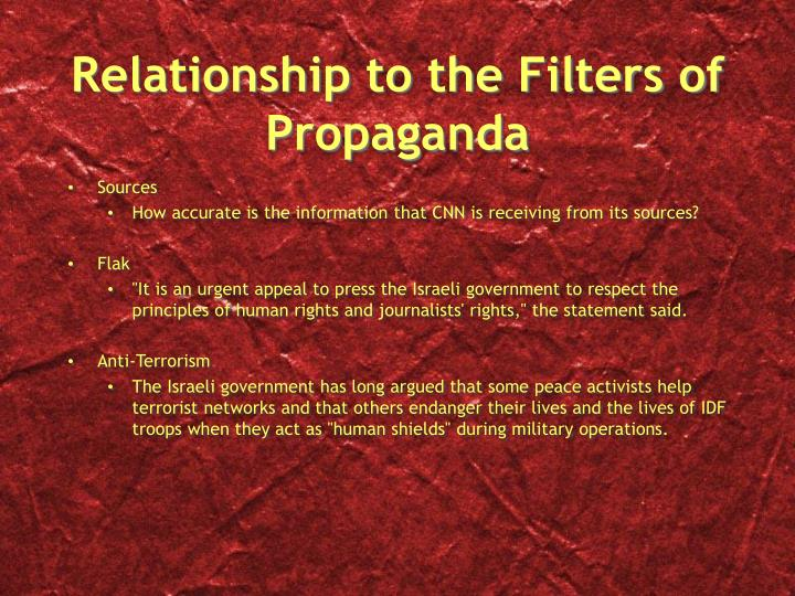 Relationship to the Filters of Propaganda