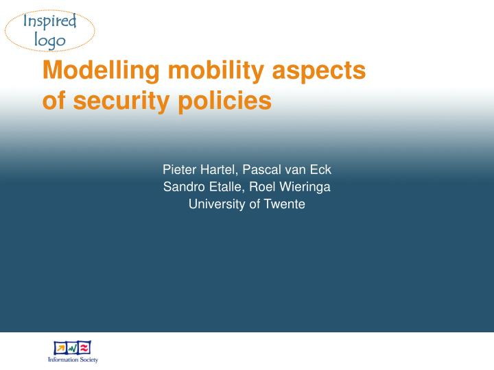 modelling mobility aspects of security policies n.