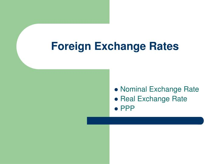foreign exchange rates n.