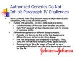 authorized generics do not inhibit paragraph iv challenges