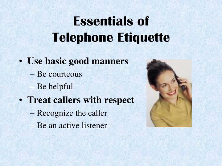 ppt telephone etiquette powerpoint presentation id 1790007. Black Bedroom Furniture Sets. Home Design Ideas