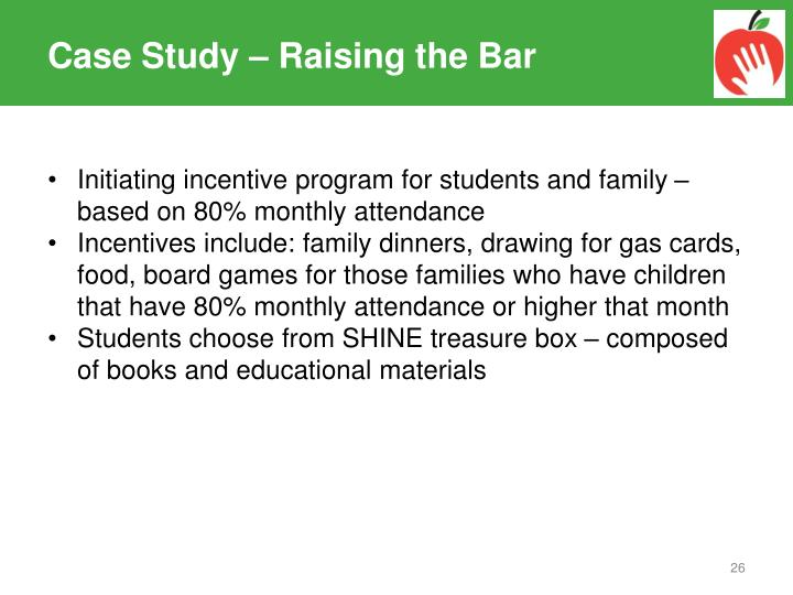 Case Study – Raising the Bar