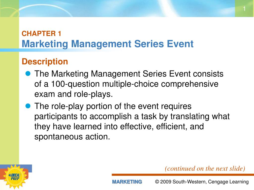 Ppt Chapter 1 Marketing Management Series Event Powerpoint