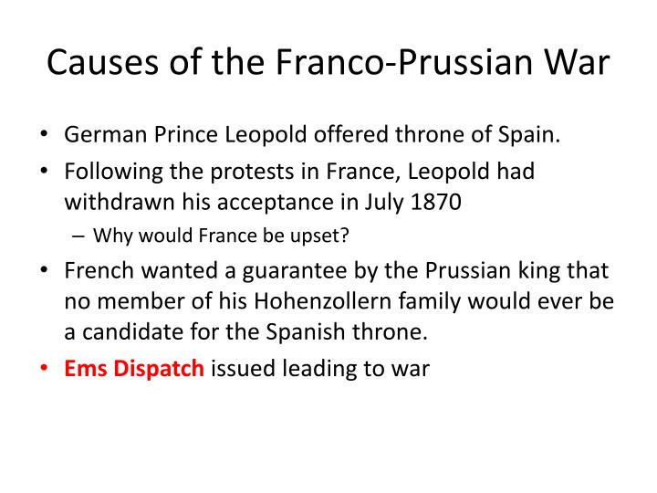 Causes of the Franco-Prussian War