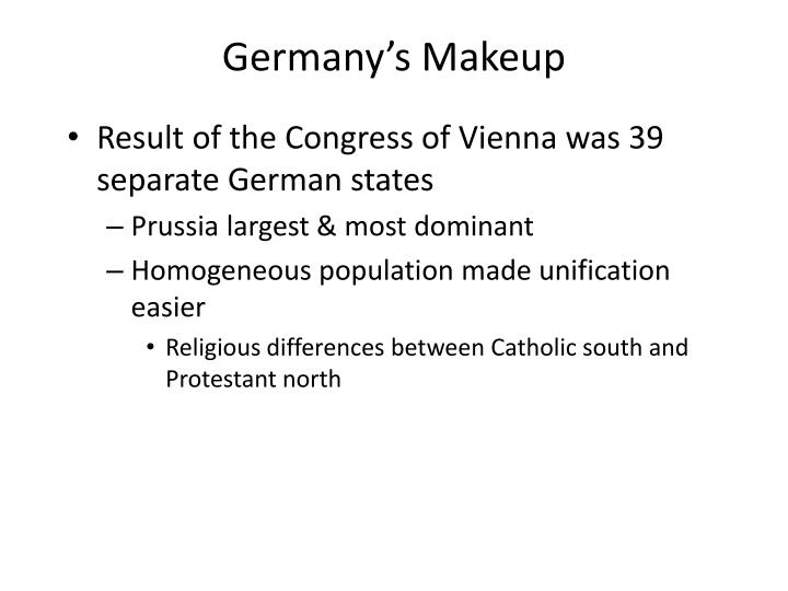 Germany's Makeup