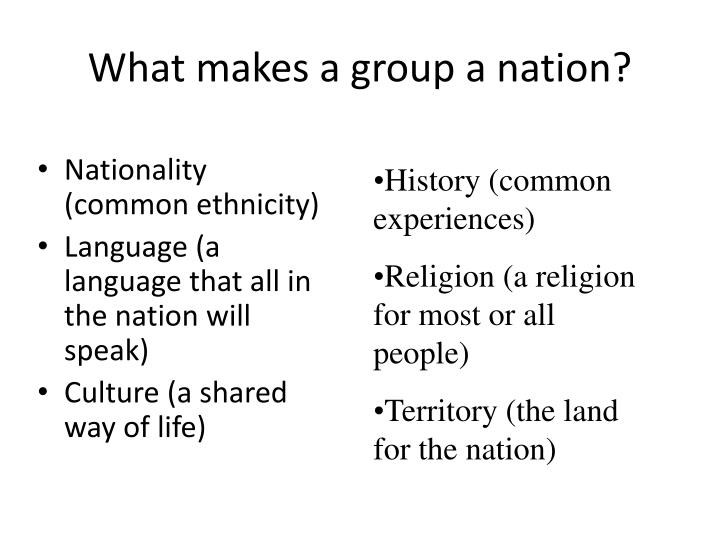 What makes a group a nation?