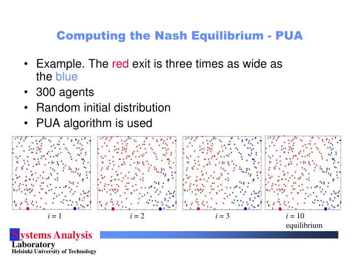Computing the Nash Equilibrium - PUA