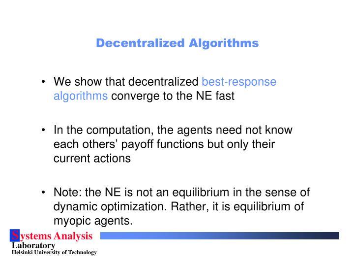 Decentralized Algorithms