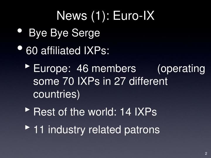 News 1 euro ix