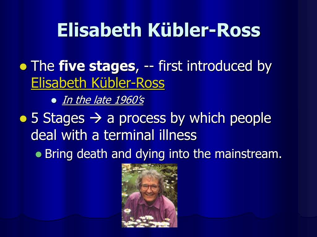 What are the 5 stages of death and dying?
