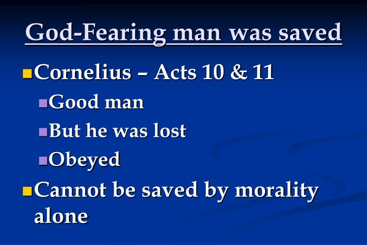 God-Fearing man