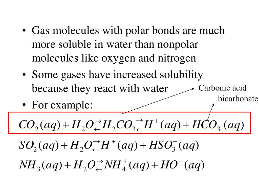 Ppt The Solubility Of Gases In Water Usually Decreases With