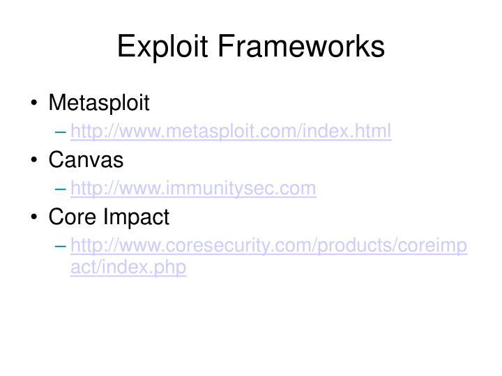 Exploit Frameworks