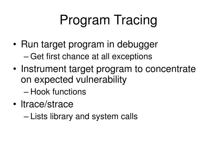 Program Tracing