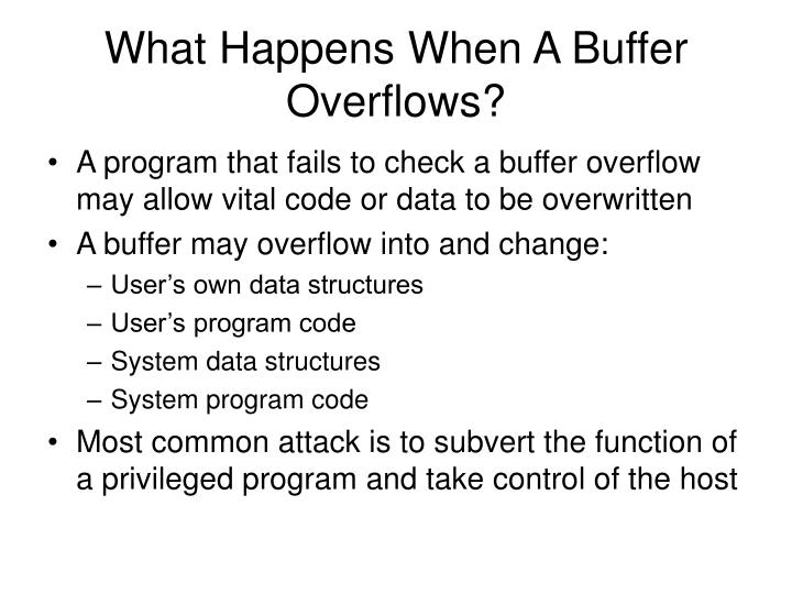 What Happens When A Buffer Overflows?