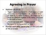 agreeing in prayer