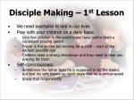 disciple making 1 st lesson